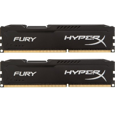 Kingston HX424C15FBK2/16 HyperX FURY Memory Black - 16GB Kit* (2x8GB) - DDR4 2400MHz