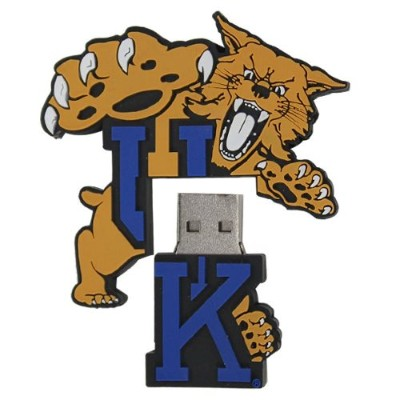 US Digital Media C1A41Q 8GB NCAA Kentucky UK Logo Shape USB Drive