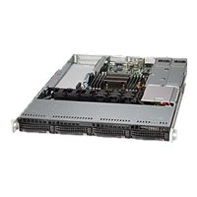 Super Micro CSE-815TQ-R706WB Supermicro SC815 TQ-R706WB - Rack-mountable - 1U - extended ATX - SATA/SAS - hot-swap 750 Watt - black