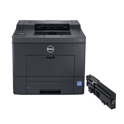 Dell 2660PR3 C2660dn Color Printer - 3 Year Advanced Exchange Warranty and 6 000 Page High Yield Black Toner Cartridge