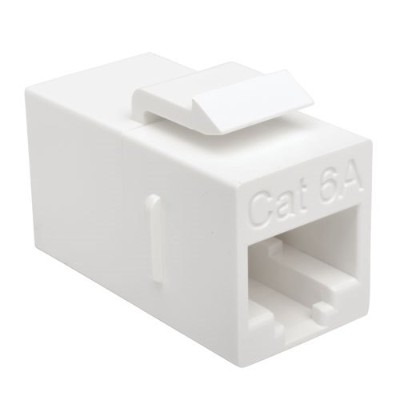 TrippLite N235-001-6A Cat6a Straight-Through Modular In-Line Snap-In Coupler (RJ45 F/F)