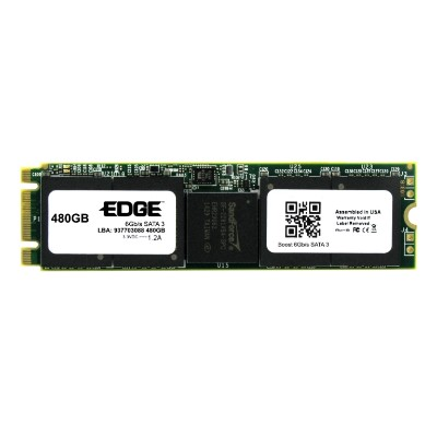 Edge Memory PE246914 480GB Boost M.2 SSD 2280 80mm SATA 6Gb/s (Double Sided)