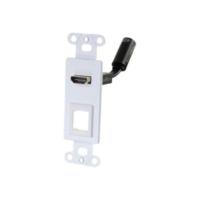 Cables To Go 60151 RAPIDRUN HDMI DECORA STYLE WALL PLATE