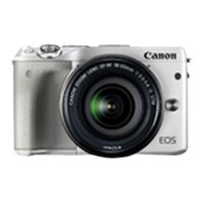 Canon 9772B011 EOS M3 - Digital camera - mirrorless - 24.2 MP - APS-C - 1080p - 3x optical zoom EF-M 18-55mm IS STM lens - Wi-Fi  NFC - white