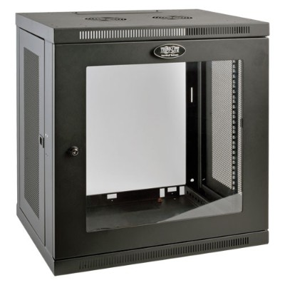 TrippLite SRW12UG 12U Wall Mount Rack Enclosure Cabinet Wallmount with Clear Acrylic Window 200lb Capacity