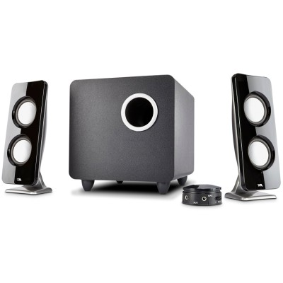 Cyber Acoustics CA-3610 Curve.Immersion - 62W Peak Power - Speaker System with Control Pod