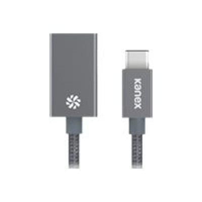 KANEX KU3CAPV1-SG USB adapter - USB Type C (M) to USB Type B (F) - 8 in - reversible C connector - space gray