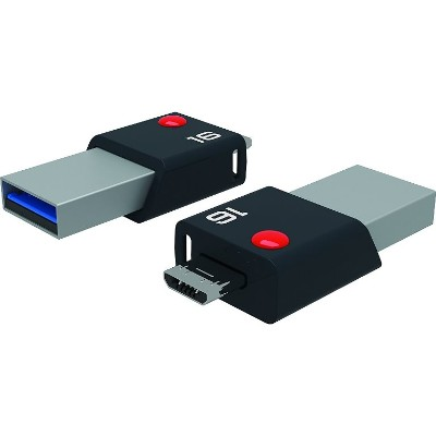Emtec ECMMD16GT203 2 in 1 Flash Drive with USB 3.0 and Micro-USB  16 GB