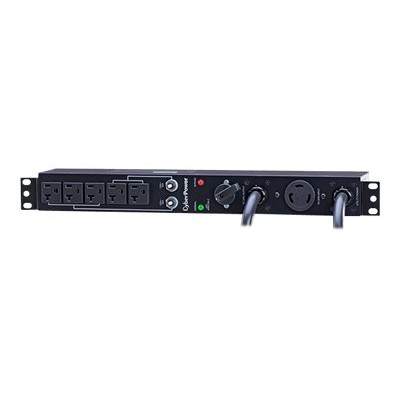 Cyberpower MBP30A5 Maintenance Bypass PDU MBP30A5 - Power distribution unit (rack-mountable) - input: NEMA L5-30 - output connectors: 5 (NEMA 5-20) - 1U - 19