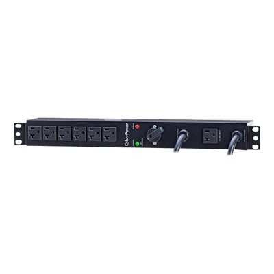 Cyberpower MBP20A6 Maintenance Bypass PDU MBP20A6 - Power distribution unit (rack-mountable) - input: NEMA 5-20 - output connectors: 6 (NEMA 5-20) - 1U - 19