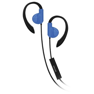 Maxell 199637 Fitness Earhooks with Microphone (Blue)
