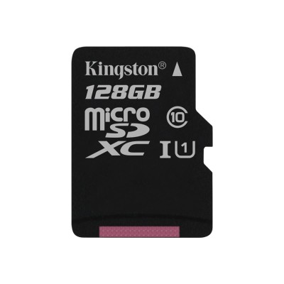Kingston Digital SDC10G2/128GBSP 128GB microSDXC Class 10 UHS-I 45R Flash Card Single Pack w/o Adapter