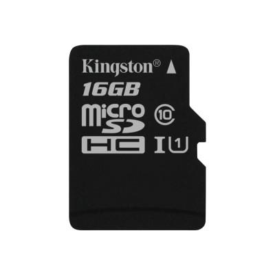 Kingston Digital SDC10G2/16GBSP 16GB microSDHC Class 10 UHS-I 45R Flash Card Single Pack w/o Adapter