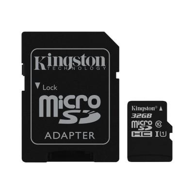 Kingston Digital SDC10G2/32GB 32GB microSDHC Class 10 UHS-I 45MB/s Read Card + SD Adapter
