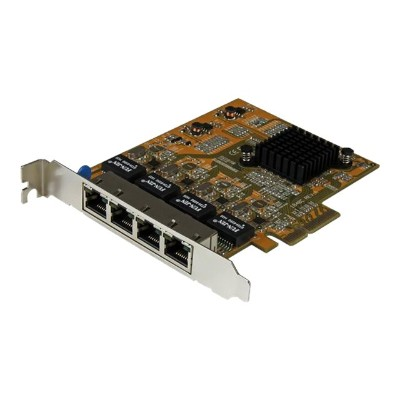 StarTech.com ST1000SPEX43 4-Port PCI Express Gigabit Network Adapter Card - Quad-Port PCIe Gigabit NIC