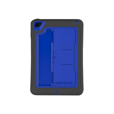 Griffin GB41367 Survivor Slim - Protective case for tablet - rugged - silicone polycarbonate - black blue - for Apple iPad mini 4