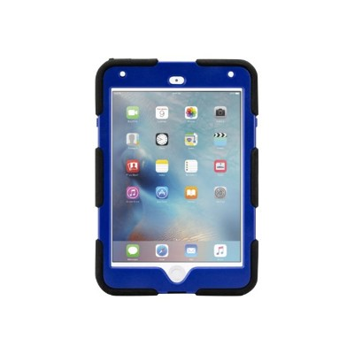 Griffin GB41356 Survivor All-Terrain - Protective case for tablet - rugged - silicone polycarbonate - black/blue - for Apple iPad mini 4