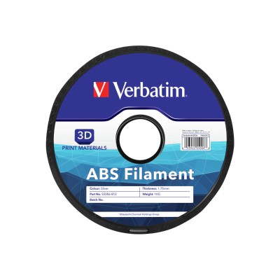 Verbatim 55006 Silver - 2.2 lbs - ABS filament ( 3D ) - for bq Witbox  MakerBot Replicator 2