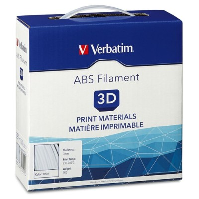 Verbatim 55007 White - 2.2 lbs - ABS filament (3D)