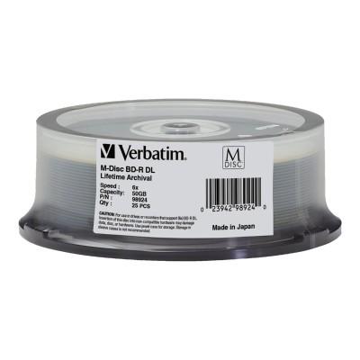 Verbatim 98924 M-Disc - 25 x BD-R DL - 50 GB 6x - spindle