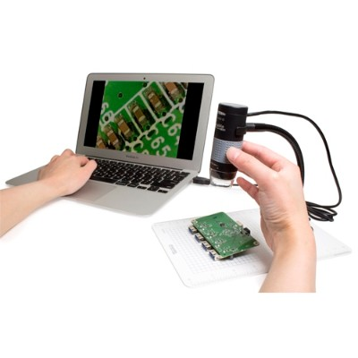 Plugable USB2-MICRO-250X Digital USB Microscope with Observation Stand