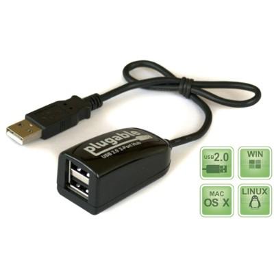 Plugable USB2-2PORT USB 2.0 2-Port Hub/Splitter