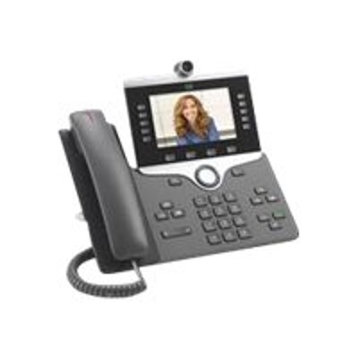 Cisco CP-8865-K9 IP Phone 8865 - IP video phone - digital camera  Bluetooth interface - IEEE 802.11a/b/g/n/ac (Wi-Fi) - SIP  SDP - 5 lines - charcoal