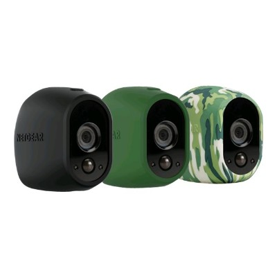 NetGear VMA1200-10000S Arlo Replaceable Skins - Camera protective cover - black  green  camouflage (pack of 3)
