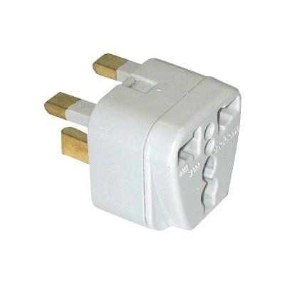 Conair Corporation NWG135C Travel Smart Grounded Adapter Plug - Power connector adapter - CEE 7/7 (SCHUKO)  NEMA 5-15  NEMA 1-15  Europlug (F) to BS 1363 (M) -