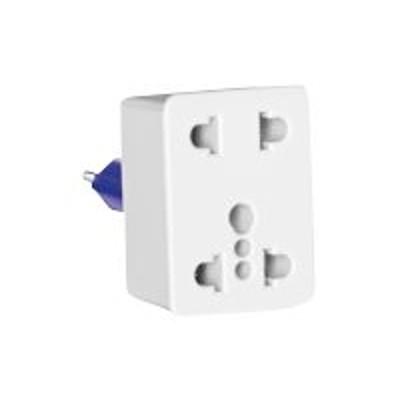 Conair Corporation NWD1 Travel Smart Dual Outlet Adapter Plug - Power connector adapter - NEMA 5-15  NEMA 1-15 (F) to Europlug (M) - white
