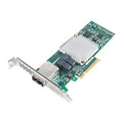 Adaptec 2288500-R HBA 1000 8i8e - Storage controller - 16 Channel - SATA 6Gb/s / SAS 12Gb/s low profile - 1.2 GBps - PCIe 3.0 x8