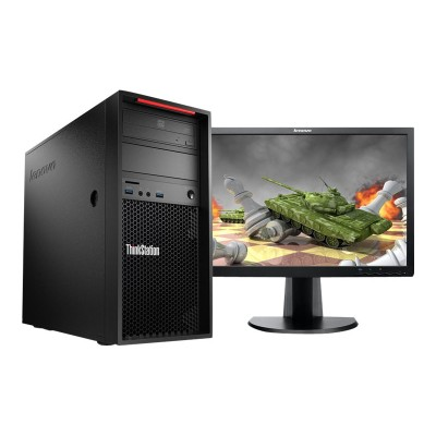 Lenovo 30AT000GUS ThinkStation P310 30AT - Tower - 1 x Xeon E3-1245V5 / 3.5 GHz - RAM 8 GB - SSD 256 GB - TCG Opal Encryption - DVD-Writer - HD Graphics P530 -