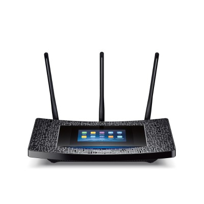 TP-Link RE590T AC1900 Touch Screen Wi-Fi Range Extender - Wi-Fi range extender - GigE - 802.11a/b/g/n/ac - Dual Band