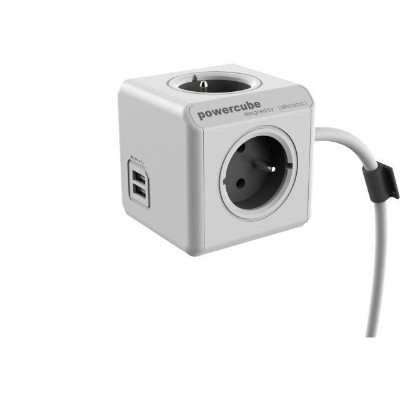 Allocacoc 1402GY ALLO 1402GY POWERCUBE EXTENDED USB GRAY