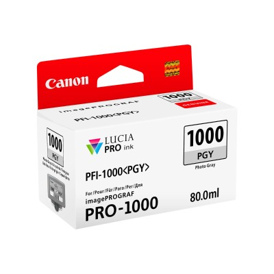 Canon 0553C002 PFI-1000 PGY - 80 ml - photo gray - original - ink tank - for imagePROGRAF PRO-1000