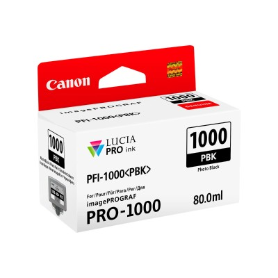 Canon 0546C002 PFI-1000 PBK - 80 ml - photo black - original - ink tank - for imagePROGRAF PRO-1000