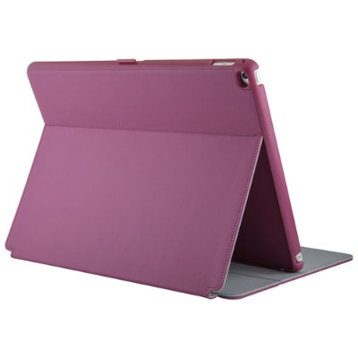 Speck Products 75761-B920 StyleFolio Case & Stand for iPad Pro - Fuchsia Pink/NIckel Grey