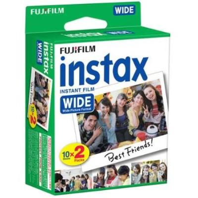 Fujifilm 16468498 Instax Wide - Color instant film - ISO 800 - 10 exposures - 2 cassettes