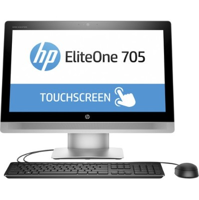 HP Inc. P5U97UT#ABA Smart Buy EliteOne 705 G2 AMD Quad-Core A8 PRO-8650B 3.20GHz All-in-One PC - 4GB RAM  500GB HDD  23 LED IPS Touch  SuperMulti DVD  Gigabit E