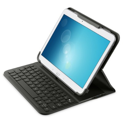 Belkin F5L179TTBLK QODE SlimStyle Universal Keyboard Case - Adjusts to snugly hold virtually all tablets up to 10 including the iPad Air 2 - Water Repellent Mat