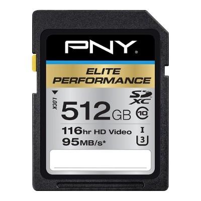 PNY P-SDX512U3H-GE 512GB ELITE PERFORMANCE SDXC CLASS 10
