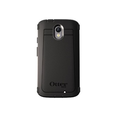 Otterbox 77-51907 Defender Series - Protective case for cell phone - rugged - polycarbonate  synthetic rubber - black - for Motorola DROID Turbo 2