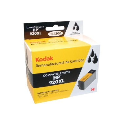eReplacements CD975AN-KD Kodak High Yield Black Remanufactured Ink Cartridge Replacement for HP 920XL for use with HP OfficeJet 6000  6000 E609a  6500  6500 E70