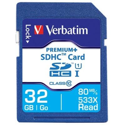 Verbatim 98727 32GB PremiumPlus 533X SDHC Memory Card - UHS-I Class 10