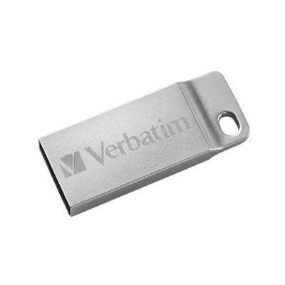 Verbatim 98750 64GB Metal Executive USB Flash Drive – Silver