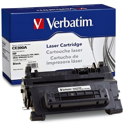 Verbatim 99223 Black Remanufactured Toner Cartridge Replacement for HP CE390A for use with HP LaserJet Enterprise 600 M601  600 M602  600 M603  M4555