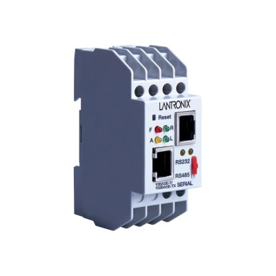 Lantronix XSDRSN-03 Industrial Device Server XPress DR - Device server - 100Mb LAN  RS-232  RS-422  RS-485 - AC 9 - 24 V / DC 9 - 30 V - rail mountable