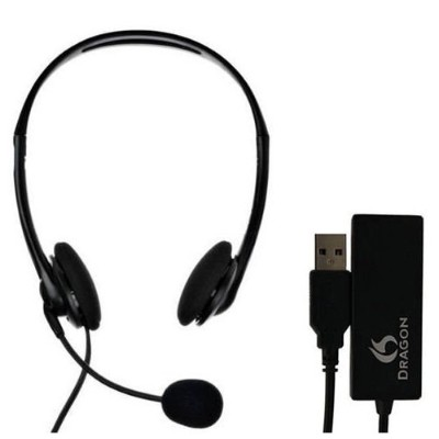 Nuance Communications HS-GEN-C-USB Dragon Analog Headset with USB Adapter