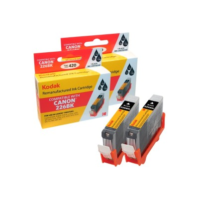 eReplacements 4530B007-KD Kodak 4530B007-KD - 2-pack - High Yield - black - remanufactured - ink cartridge (equivalent to: Canon PGI-225BK) - for Canon PIXMA iP