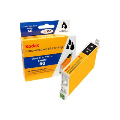 eReplacements T060120-KD Kodak - High Yield - black - remanufactured - ink cartridge (equivalent to: Epson T0601) - for Epson Stylus C68  C88  C88+  CX3800  CX3